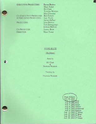 "NYPD BLUE show script ""Ho Down"""