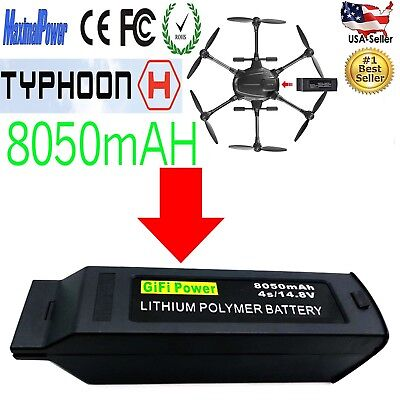 8050mAh 14.8v Lipo Battery for Yuneec Typhoon H Drone RC Hexacopter