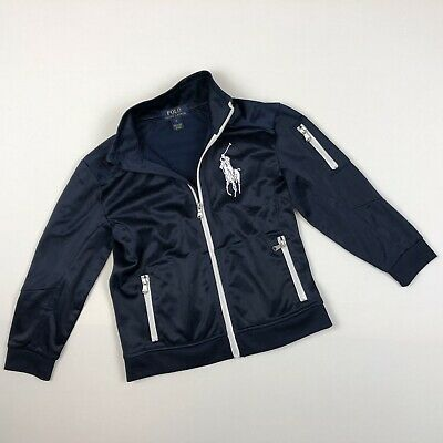 POLO Ralph Lauren Lrg Pony Navy track jacket boys Size 6
