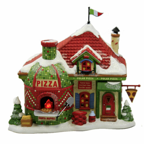 Dept 56 NORTH POLE POLAR PIZZA North Pole Village 6007612 NEW 2021 IN STOCK!