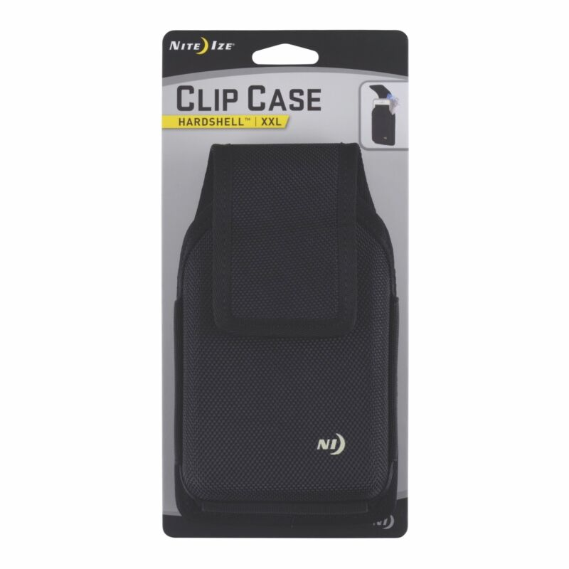 Nite Ize Clip Case Hardshell Holster XX-Large Black Rugged Nylon Phone Case