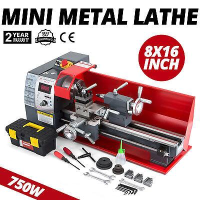 Präzisions Metalldrehmaschine Mini-Drehmaschine Drehbank 750W Metal Lathe