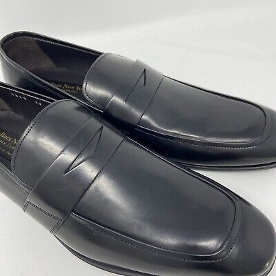 To Boot New York Adam Derrick Made In Italy Black Penny Loafers 13 Leather New