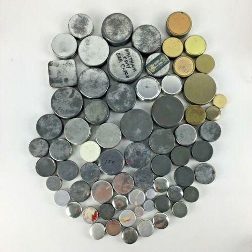 Lot 65+ Metal Tins Pocket Watch Jeweler Parts Supplies Vtg Advertising Steampunk