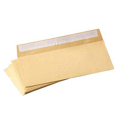 50 Dl Envelopes Manilla Plain 80gsm 220mm X 110mm Self Seal Office Letter Pack