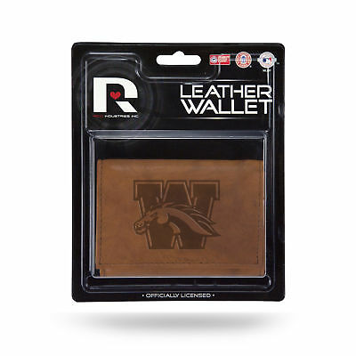 - Western Michigan Broncos Embossed Brown Leather Trifold Wallet
