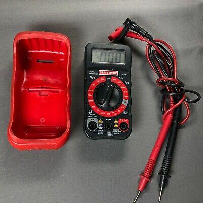 Craftsman 82140 Cat Ii 600v Digital Multimeter Tester W Leads Vdc Vac Adc