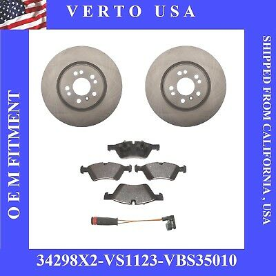 Complete Front Set 330 mm Brake Rotors , Pads & Sensor Fit , Mercedes Benz  330 Mm Rotors