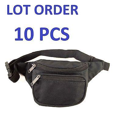 New Black Waist Fanny Pack Belt Bag Pouch Travel Sport Hip Purse Mens Womens LOT
