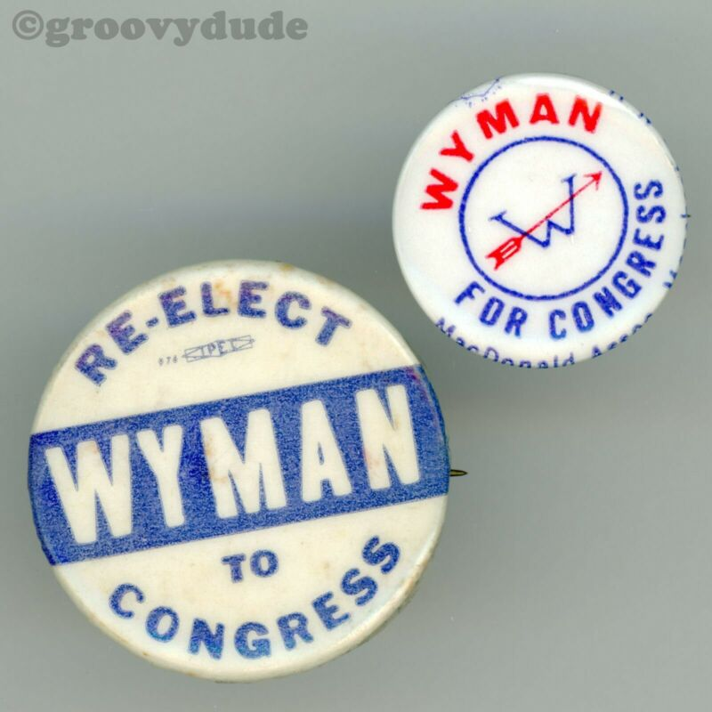 Louis C. Wyman For Congress New Hampshire NH Campaign Pin Pinback Button Lot