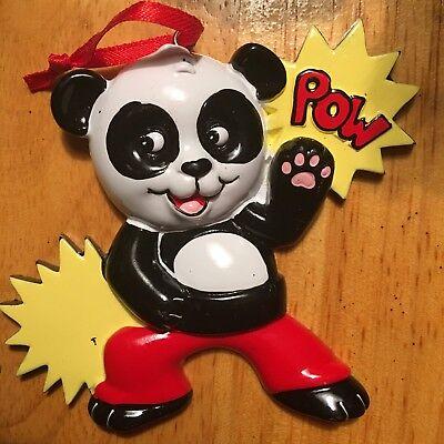 Panda Pow - POLARX Personalizable Christmas Tree Ornament  Free Shipping! - Panda Ornament