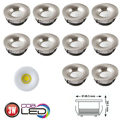 Deco Led (3W LED Einbaustrahler Mini Spot Einbauleuchte Einbauspot Deco Lampe 5er 10er Set)