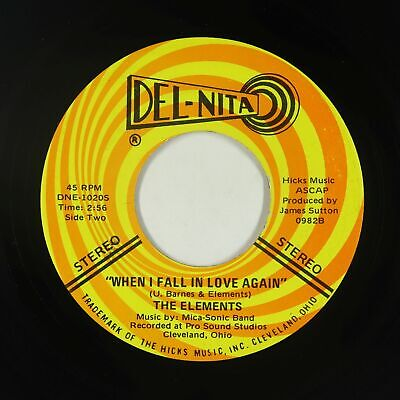 Crossover/Sweet Soul 45 - Elements - When I Fall In Love Again - Del-Nita - VG+