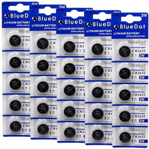 25 pcs CR1632 CR 1632 3V Lithium Coin Cell Button Battery Batteries ~USA SHIPPER