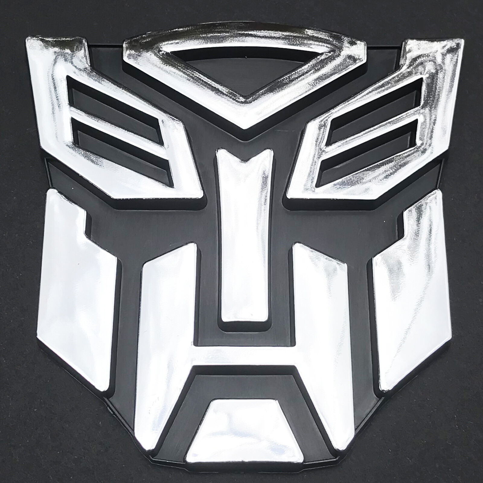Transformer 3D Car Decal Emblem Autobot Bot Robot Optimus Prime Symbol 9cm NEW