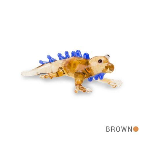 Stik Iguana Brown Tynies Tiny Glass Figure Figurine Collectible 0173