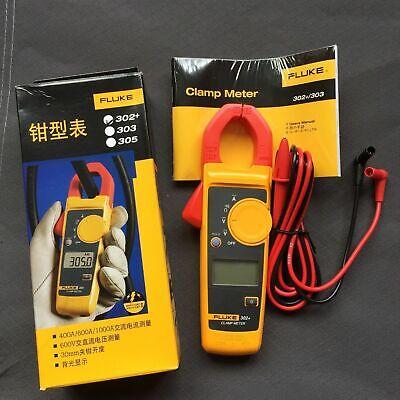 Fluke 302 Handheld Digital Clamp Multimeter Meter Tester Dmm Acdc Volt F302