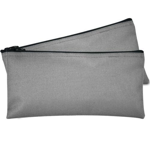 Deposit Bag Bank Pouch Zippered Safe Money Bag Organizer in GRAY 2 PACK