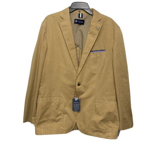 CREMIEUX Mens Cotton Blazer Sport Coat Jacket XL Khaki Heavyweight Vintage Look Clothing, Shoes & Accessories