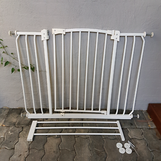 Large Baby Pet Safety Gate Barrier With Extension Wide Span