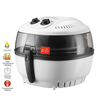 7.4qt Electric Oil-less Air Fryer 1400w Timer And Temperature Control White