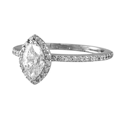 Best seller Halo Style GIA Certified Marquise Diamond Engagement Ring 3.10 CTW 1