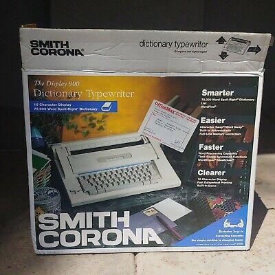 Smith Corona Dictionary Display Electronic Typewriter Model 900 W Original Box