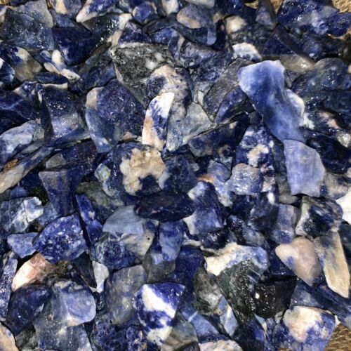 (SMALL) Sodalite Rough- Very High Quality- 1000 Carats + a FREE Faceted Gemstone