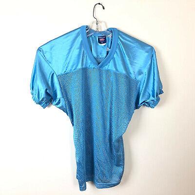 Rawlings FJ9204 Adult Mesh Game/Practice Football Jersey, Belt Length M Blue