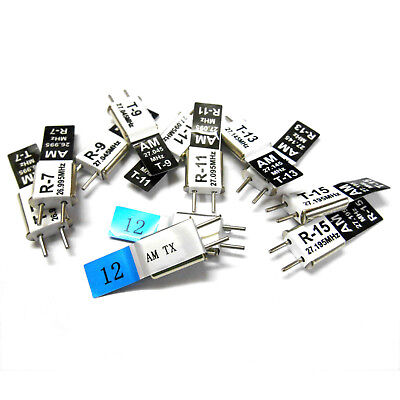 27 MHZ 26.995 27.045 27.095 27.145 27.195 27.255 AM Crystal 6 Packs Total RX TX