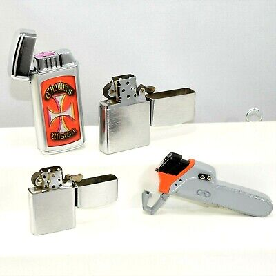 - Mix Lighter Collection Lot Vulcan Japan ~ Chain Saw Ad ~ NEW & USED