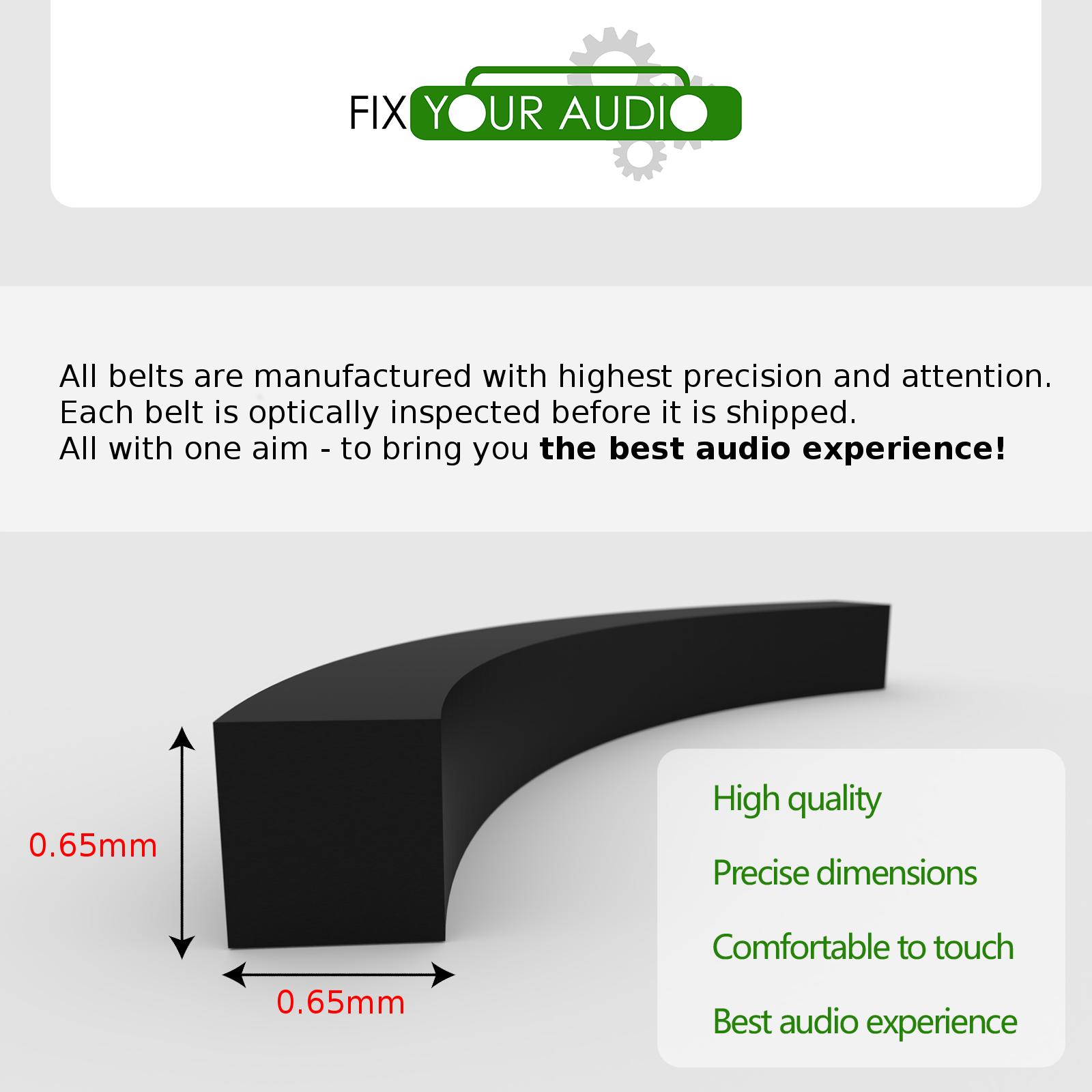 Belt for Sony WM-F2078 WM-F2081 WM-F2085 WM-FS421 WM-FS555 WM-FS556 Walkman