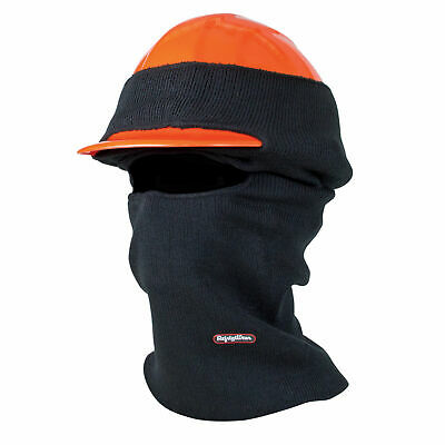 Refrigiwear Double Layer Long Neck Industrial Hard Hat Balaclava Face Mask Black