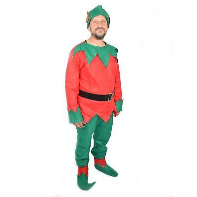 Christmas Elf Costume Adult Unisex Xmas Fancy Dress Costume One Size  (Female Christmas Elf Costume)