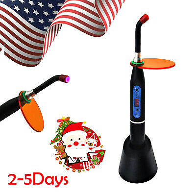 Black Dental 10w Wireless Cordless Led Curing Light Lamp Machine 2000mw Usa