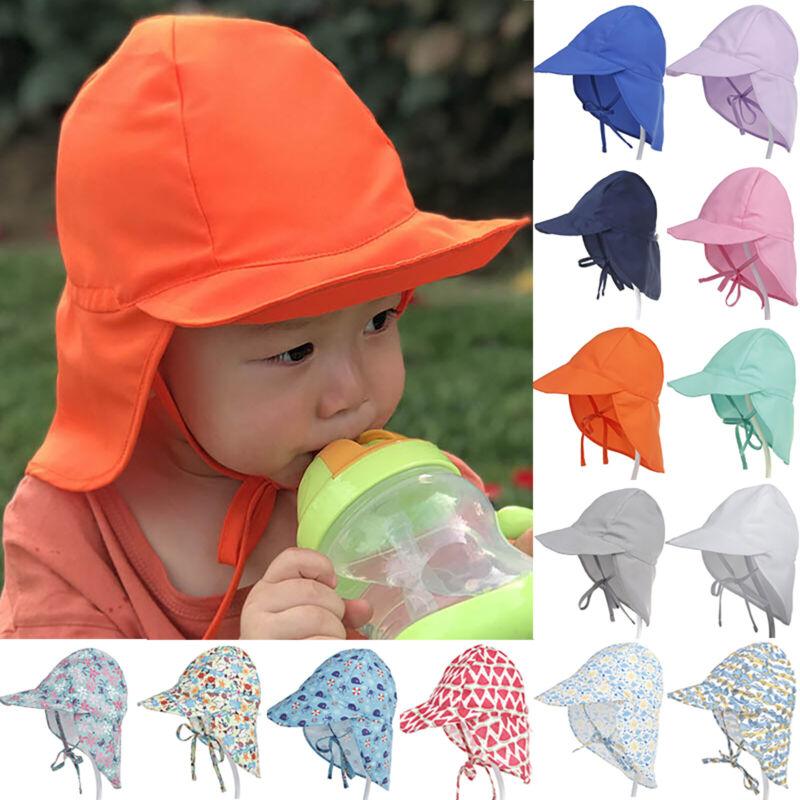 Kinder Baby Mädchen Junge Sonnenhut Mütze Kappe Sommer Strand UV-Schutz Urlaub