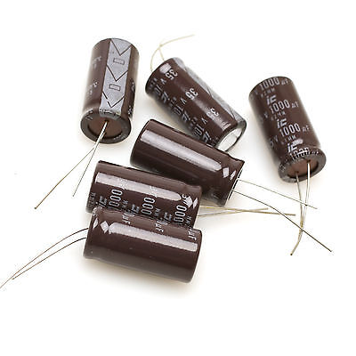 Illinois Capacitors Rzmm 1000mfd Electrolytic Capacitor 35v Pack Of 6
