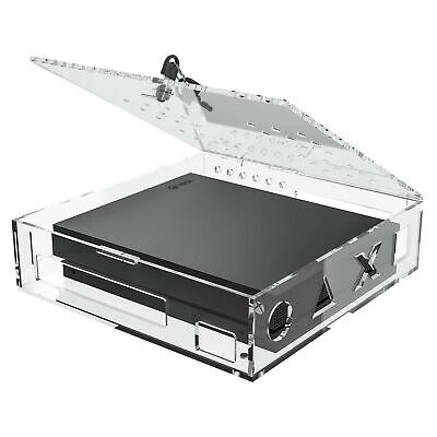 Skywin Acrylic Lock Box for Xbox Game Console - Secure and Protect Public Gam...