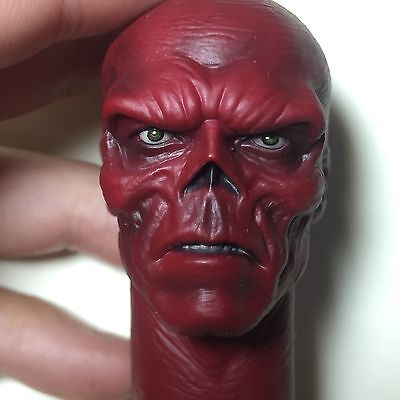 HYDRA 16 Scale Red Skull Head Sculpt For Hot Toys Figure Body CAPTAIN AMERICA