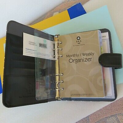 Compact 1 Rings Franklin Covey 365 Planner Binder Organizer Blackwhite Snap