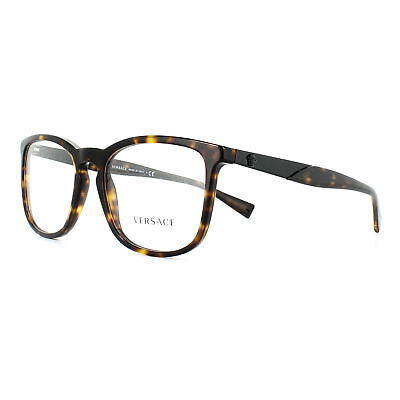 Versace Glasses Frames 3252 108 Dark Havana 54mm Mens Womens