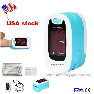 Finger Pulse Oximeter Blood Oxygen Meter Sensor Portable Spo2 Monitor Heart Rate