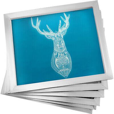 6pcs 12x16 Aluminum Frame Silk Screen Printing Screens 110 Mesh Ink Pressing