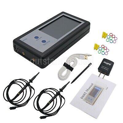 Portable Digital Oscilloscope 2-ch 200khz Oscilloscope Touch Panel Lcd D602 Ot16