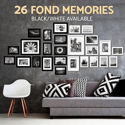 26PCS Photo Frame Set Picture Wall Mounted Art Home Décor Modern Black White