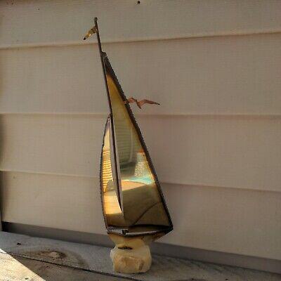 Mid Century Modernism Sailboat Sculpture