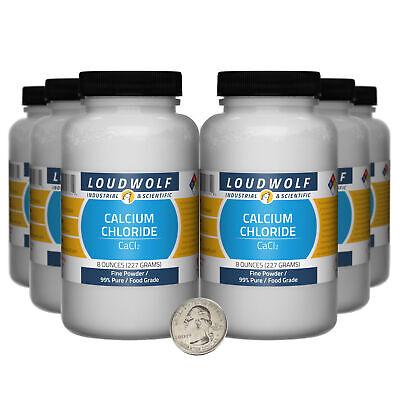 Calcium Chloride 3 Pounds 6 Bottles 99 Pure Food Grade Fine Powder