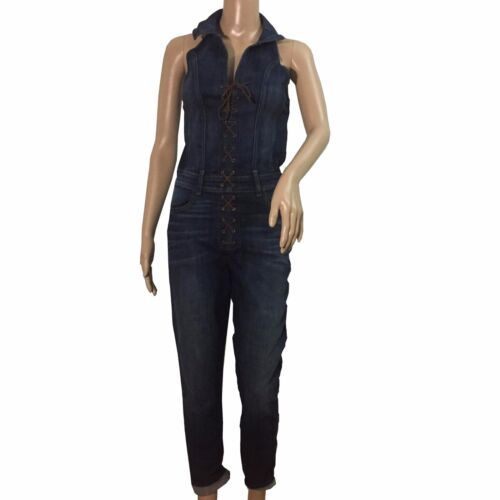 Guess Overall Jeans for Women Lace Up Stonewashed Skinny Siz