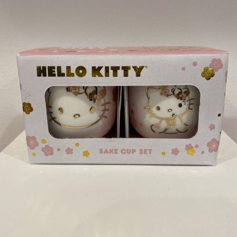 Hello Kitty Kimono Porcelain Sake Cup Set