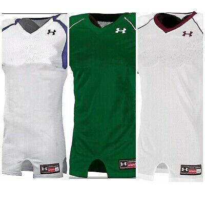 Under Armour UA Men's Adult Crusher Football Jerseys White Maroon Navy Black Red Under Armour Crusher